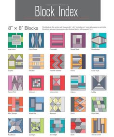 Patchwork blocks from 'Patchwork City: 75 Innovative Blocks for the Modern Quilter' Paperback – 31 Oct 2014 by #ElizabethHartman