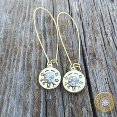 Starline 44 Mag Brass Bullet Casing Earrings w/ KIdney Earwires