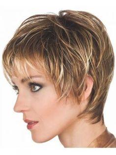 Straight Dark Blonde Pixie Haircut for Older Women Short Hairstyles 2015, Haircuts For Fine Hair, Shag Hairstyles, Best Short Haircuts, Short Hairstyles For Women, Straight Hairstyles, Pixie Haircuts, Haircut Short, Short Bangs