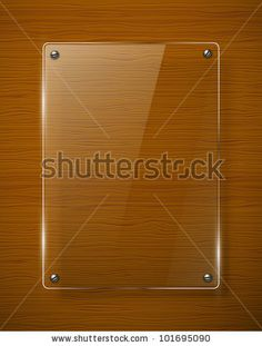 Wooden texture with glass framework. Vector illustration by RLRRLRLL, via ShutterStock