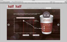 Half4Half Information Design by Brie Stitz, via Behance