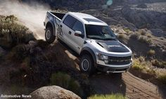 The SVT Raptor is a high-performance version of Ford's venerable F-150 pickup truck that is one of the most unique and capable off-road production vehicles ever made  Read more: http://www.leftlanenews.com/new-car-buying/ford/f-150-svt-raptor/#ixzz2l56hLOlH
