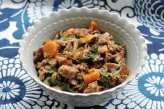 Scotch warms up a stew of boneless pork shoulder, carrots and herbs