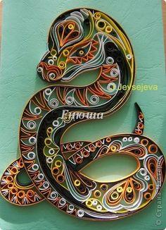 Змея - символ 2013 года из бумаги - Квиллинг - Поделки из бумаги - Каталог статей - Рукодел.TV