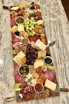 Large Trader Joe's Charcuterie and Cheese Board by The BakerMama Charcuterie Board Meats, Plateau Charcuterie, Charcuterie Recipes, Charcuterie And Cheese Board, Cheese Boards, Trader Joe's Cheese, Appetizer Recipes, Appetizers, Party Food Platters
