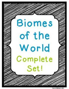 Biomes: Complete Set: This product includes all six of my Biomes of the World products: Presentation (PPT converted to PDF), Mini-Posters, Attribute Matrix, Triple Concentration, Biome Quiz, Biome Brochure Project. Biomes: Tropical Rain Forest, Deserts, Swamps, Rivers and Streams, Polar Regions  #Biomes #Science #CarrieWhitlockTpT  #Bundle