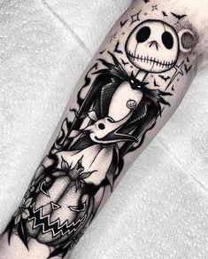 Spooky Tattoos, Dope Tattoos, Dream Tattoos, Badass Tattoos, Body Art Tattoos, Small Tattoos, Sleeve Tattoos, Tatoos, Jack Tattoo