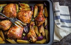 One-pan cajun chicken & potatoes, a simple and delicious dinner idea the whole family will love. Just toss everything in the baking dish with seasoning & roast to absolute crisp perfection!...