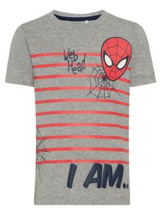 MINI SPIDER MAN PRINTED SHORT SLEEVED TOP