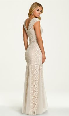 Circle Crochet Lace Dress 002