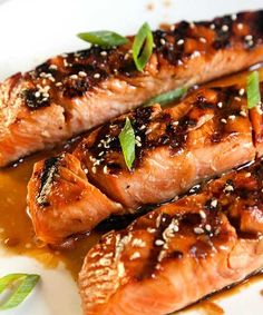 Recipe for Salmon Teriyaki - Teriyaki sauce is so easy to make from scratch, and so versatile, that we make our own and slather it onto salmon