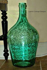 Cameo Cottage Designs: Knotted Jute Net Demijohns or Bottles DIY Tutorial Glass Bottle Crafts, Diy Bottle, Bottle Art, Wine Country Gift Baskets, Jute Crafts, Painted Wine Bottles, Macrame Projects, Recycled Bottles, Diy Tutorial