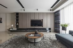 Living Room Wall Units, Living Room Tv Unit Designs, Living Room Modern, Home Living Room, Interior Design Living Room, Home Room Design, House Design, Design Design, Tv Feature Wall