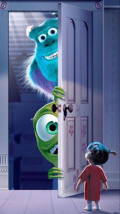Disney Quiz, Disney Art, Disney Pixar, Punk Disney, Wallpaper Animes, Disney Phone Wallpaper, Iphone Wallpaper, Monsters Ink, Disney Monsters