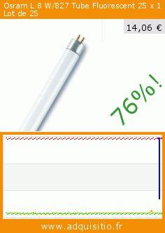 Osram L 8 W/827 Tube Fluorescent 25 x 1 Lot de 25 (Cuisine). Réduction de 76%! Prix actuel 14,06 €, l'ancien prix était de 58,39 €. https://www.adquisitio.fr/osram/ampoule-fluo-lumilux-t5-8