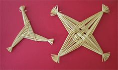 While called 'St. Brigid's Cross' today, these -and especially the three-legged - have a much older and pagan history, long before  the foreign religion invaded.