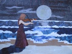 """""""Thou art the music of my heart"""" (Eriskay Love Lilt) - collage by Maggie Mason@@"""
