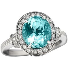 Oval Paraiba Tourmaline Ring