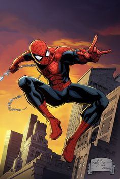 Here is a print of Spider Man asked me to colorfor New York Comic Con2015. I'm not sure if you can buy it from him on line or any thing. It might have been a con exclusive