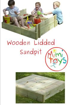 TP Wooden Lidded Sandpit Natural wooden sandpit with cover and liner Sandpit Cover, Sandpit Toys, Sand Pits For Kids, Outdoor Play, Outdoor Decor, Social Activities, Gross Motor Skills, Garden Toys, Toy Chest