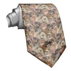 Kittens Men's Neck Tie.  For the cat lover.