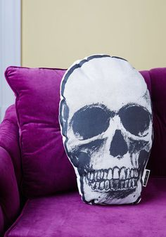 "Your Dark Palace: ""Rest Your Head"" Skull Pillow. $34.99 at Modcloth.com"