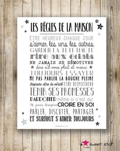 Displays XL the House rules Front Gate Design, A4 Poster, Posters, My Ideal Home, Mothers Day Quotes, House Rules, Special Quotes, My Mood, Positive Attitude