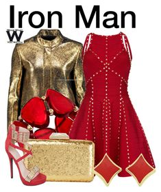 """""""Iron Man"""" by wearwhatyouwatch ❤ liked on Polyvore featuring Raoul, INC International Concepts, KOTUR, wearwhatyouwatch and film"""