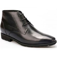 616314bd9fee6 Winter Elevator Shoes Velvet Lining Hieght Increasing Boots Warm Men Dress  Boots 7.5CM/2.95 Inch make men taller instantly and invisible