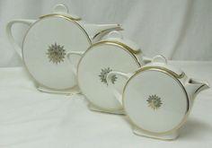 TLB LIMOGES France China Porcelain Art Deco Coffee Service Set
