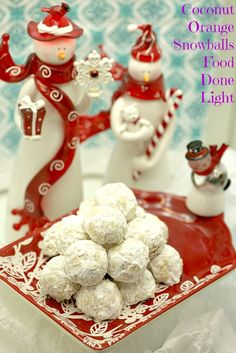 Lightened Coconut Orange Snowball Cookies www.fooddonelight.com