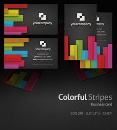 Colorful Stripes Business Card by ~Rafael-Olivra on deviantART