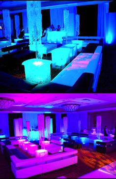 One Step Beyond Events Led Centerpieces, Chandelier Centerpiece, Led Furniture, Lounge Furniture, Wedding Furniture, Glow Table, Light Table, One Step Beyond, Orlando Travel