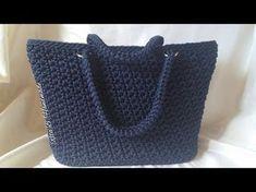 Basket or bag to step Crochet fettuccia Crochet Bag Tutorials, Crochet Videos, Diy Crochet, Crochet Projects, Crochet Patterns, Crochet Hats, Crochet Handbags, Crochet Purses, Crochet Hat For Women