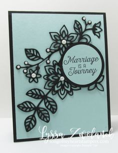 Flourishing phrases flowering thinlets wedding card stampin up                                                                                                                                                      More