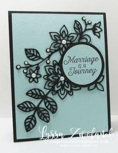 Flourishing phrases flowering thinlets wedding card stampin up