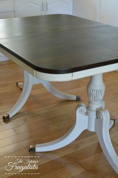 Duncan Phyfe Table with Minwax Dark Walnut stain on top
