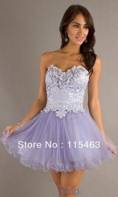 vestidos de 15 cortos lila y blanco - Buscar con Google