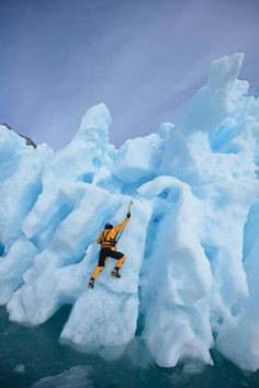 Ice Climbing in Antarctica --- Top of my bucket list! Adventure Bucket List, Adventure Is Out There, Adventure Travel, Trekking, Places To Travel, Places To Go, Continents And Oceans, Surf, Best Skis