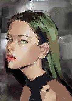 Digital Portrait, Portrait Art, Portraits, Art Sketches, Art Drawings, Guache, Hand Art, Looks Cool, Anime Art Girl