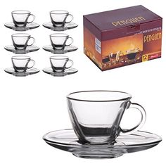 6 Matching Glass Espresso Coffee Cup & Saucers (12pc Set) Pasabahce http://www.amazon.co.uk/dp/B00TDWF6YG/ref=cm_sw_r_pi_dp_YYUgvb0VR53AJ