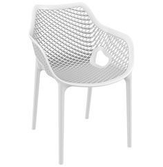 Compamia Air Xl Outdoor Dining Arm Chair Set Of 2   White