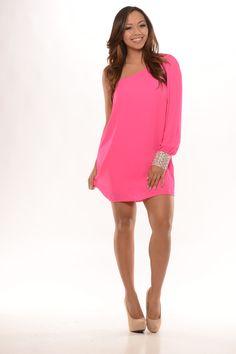 Tunic Dress - Neon Pink