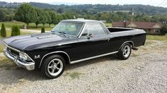 1966 Chevrolet El Camino - oh, I have always wanted a black El Camino!!  Find…