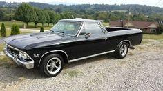 1966 Chevrolet El Camino - oh, I have always wanted a black El Camino!!  Find parts for this classic beauty at restorationpartssource.com.