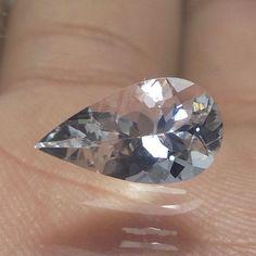 12x6.7 mm Natural Goshenite TRANSPARENT Beryl 1.8 Ct PEAR Cut Stone Gemstone