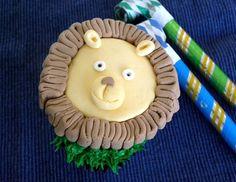 Lion Fondant Cupcake Topper~Lion Birthday Party Idea