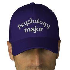 Psychology Major Embroidered Hat