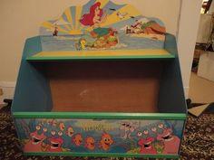 Disney Princess Toy Bin Storage Box little mermaid chest 1990s vintage ariel