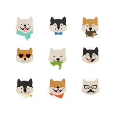 Shiba Love Art Print by Hello Hoku Shiba Inu, Japanese Spitz, Japanese Dogs, Animals And Pets, Cute Animals, Cat Nail Art, Photo Images, Dog Logo, Dog Illustration